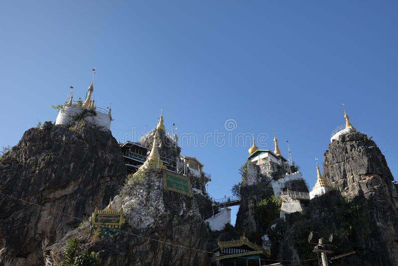Pagoda de Thiri Mingala Taungweh dans Loikaw dans Myanmar photographie stock libre de droits