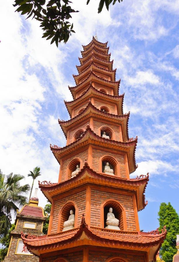 Pagoda de Tran Quoc images libres de droits