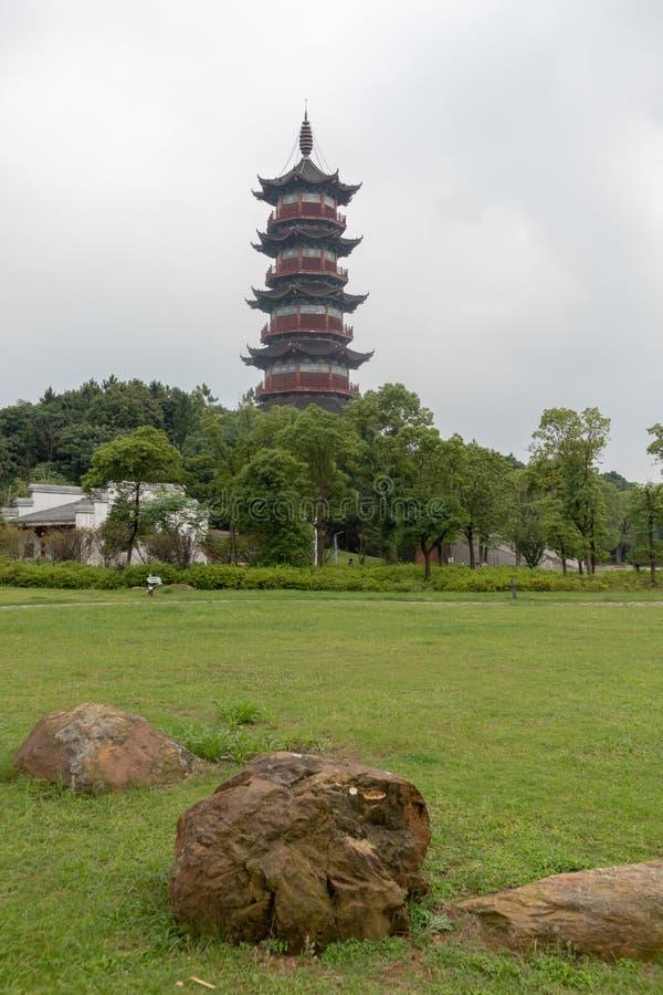 Pagoda de Wanshou de lac elephant de Nan-Tchang photographie stock