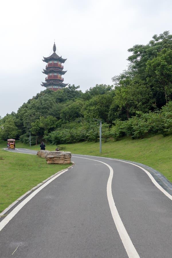 Pagoda de Wanshou de lac elephant de Nan-Tchang photo libre de droits