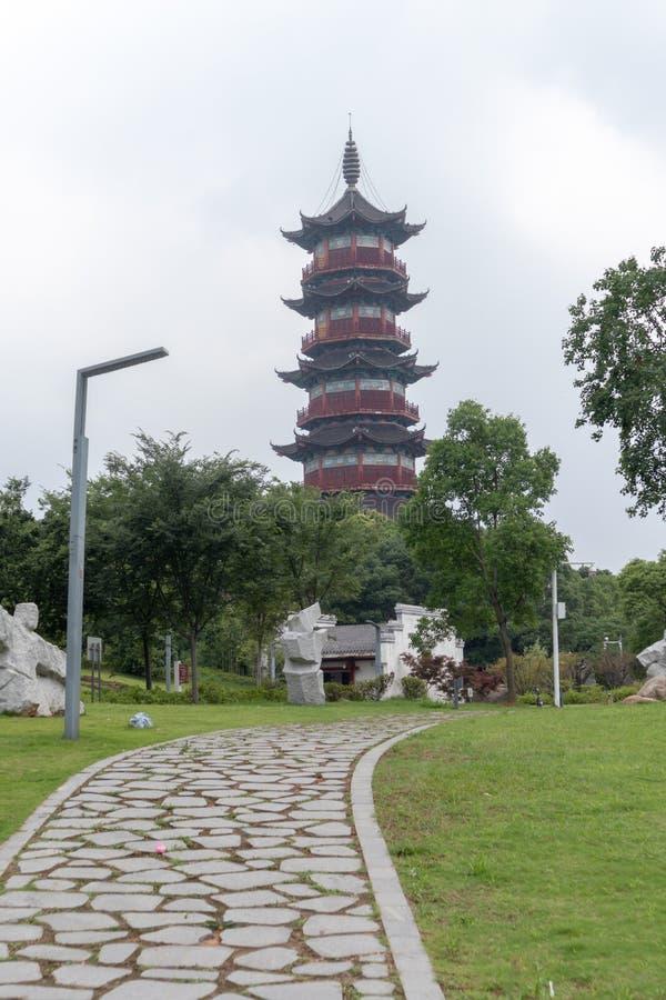 Pagoda de Wanshou de lac elephant de Nan-Tchang photo stock