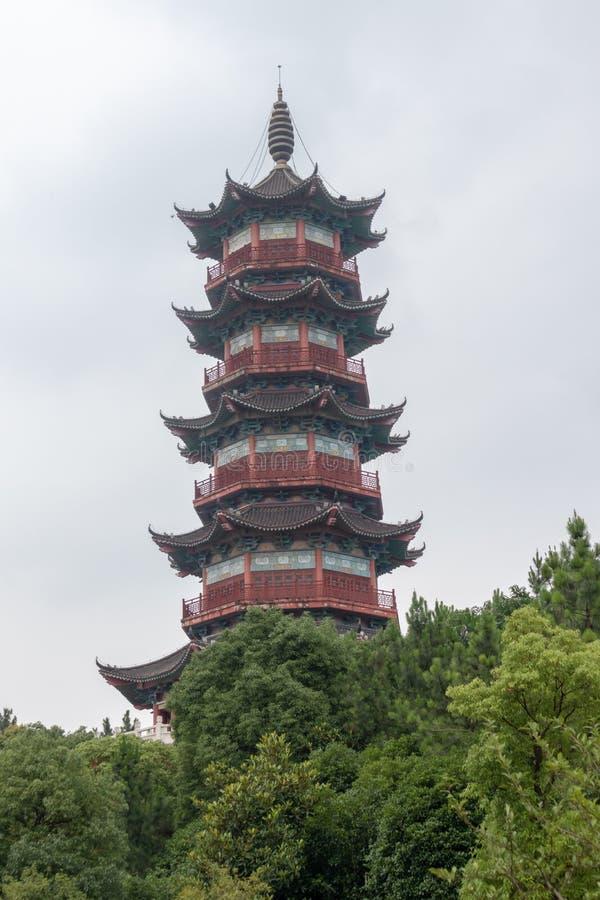 Pagoda de Wanshou de lac elephant de Nan-Tchang image stock