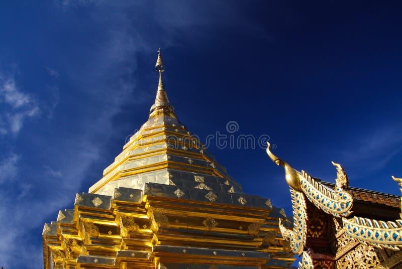 Pagoda de Wat Phra That Doi Suthep en Chiang Mai, Thaïlande images libres de droits