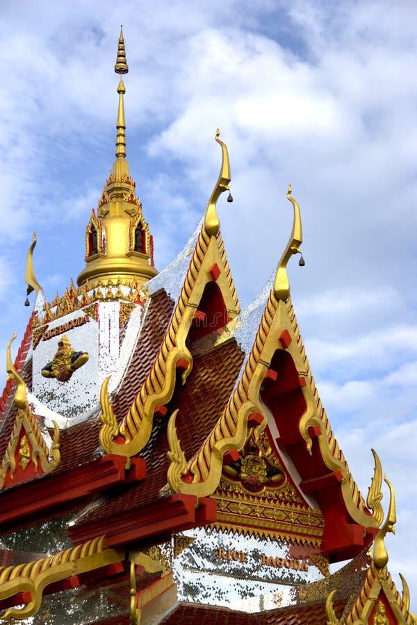Pagoda del arroz de Wat Buppharam foto de archivo