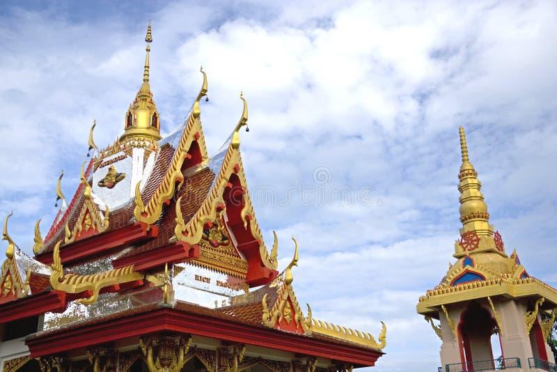 Pagoda del arroz de Wat Buppharam imágenes de archivo libres de regalías