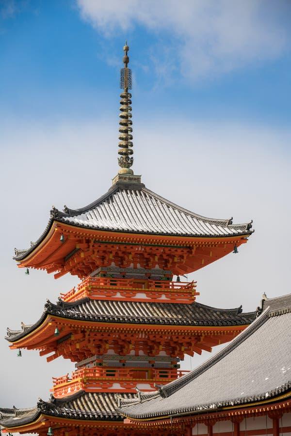 Pagoda del tempio di kiyomizu fotografia stock