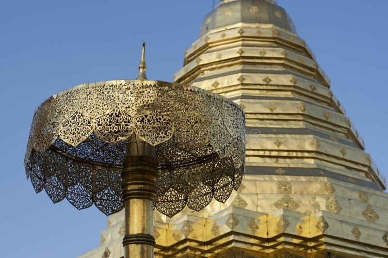 Pagoda del tempio di Wat Doi Suthep fotografia stock libera da diritti