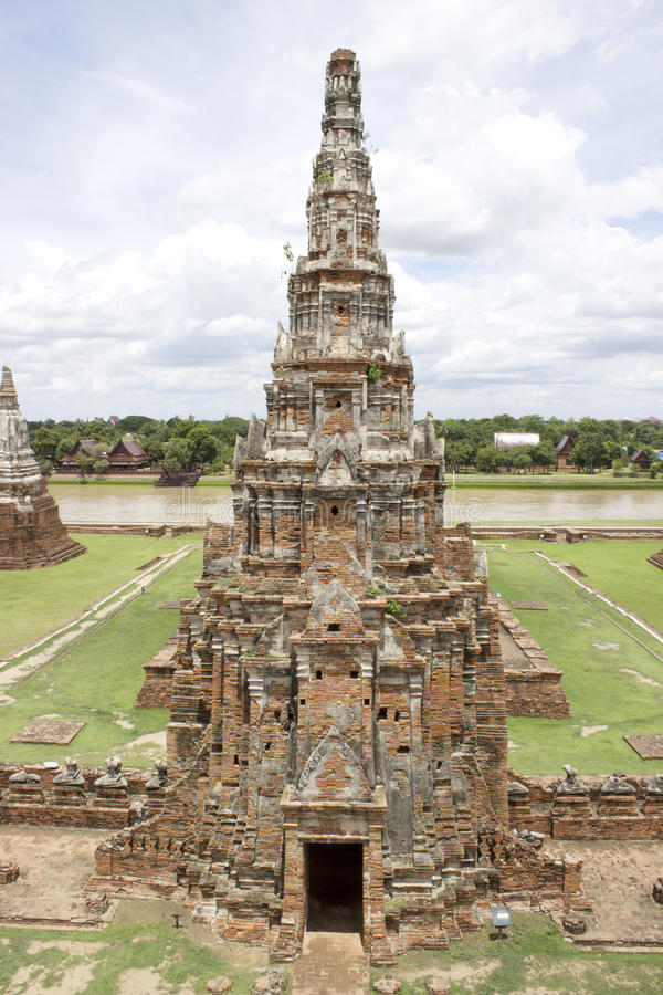 Pagoda del templo de Chaiwatthan imágenes de archivo libres de regalías