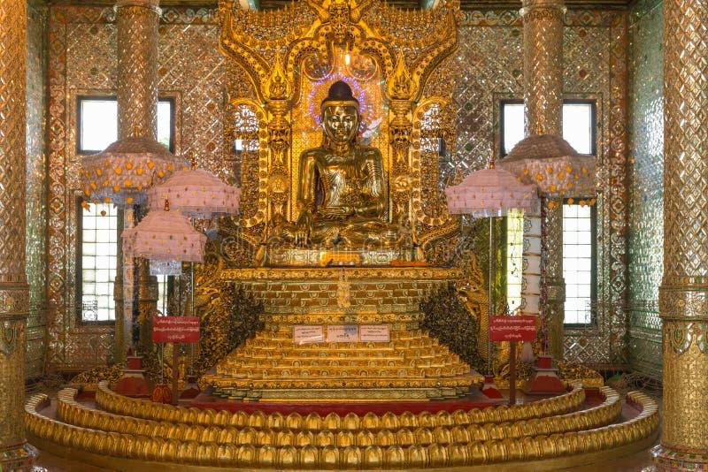 Pagoda di Botataung, Rangoon, Myanmar fotografia stock libera da diritti