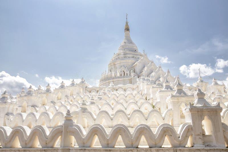 Pagoda di Hsinbyume in Mingun, Myanmar fotografia stock
