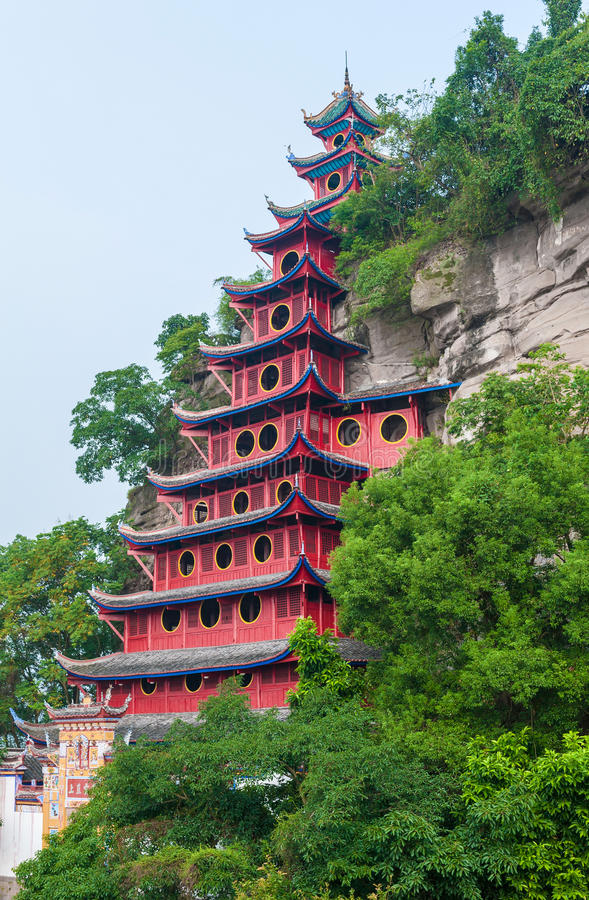 Pagoda di Shibaozhai fotografia stock libera da diritti
