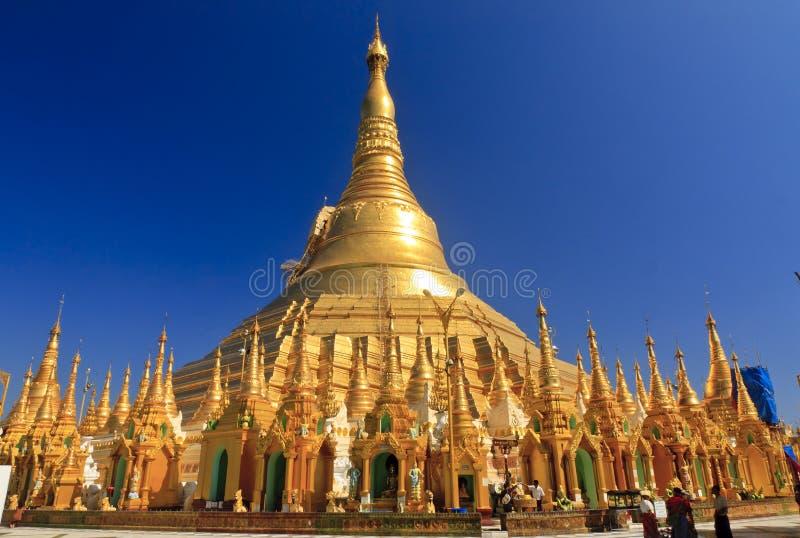 Pagoda di Shwedagon a Yangon, Myanmar   immagini stock