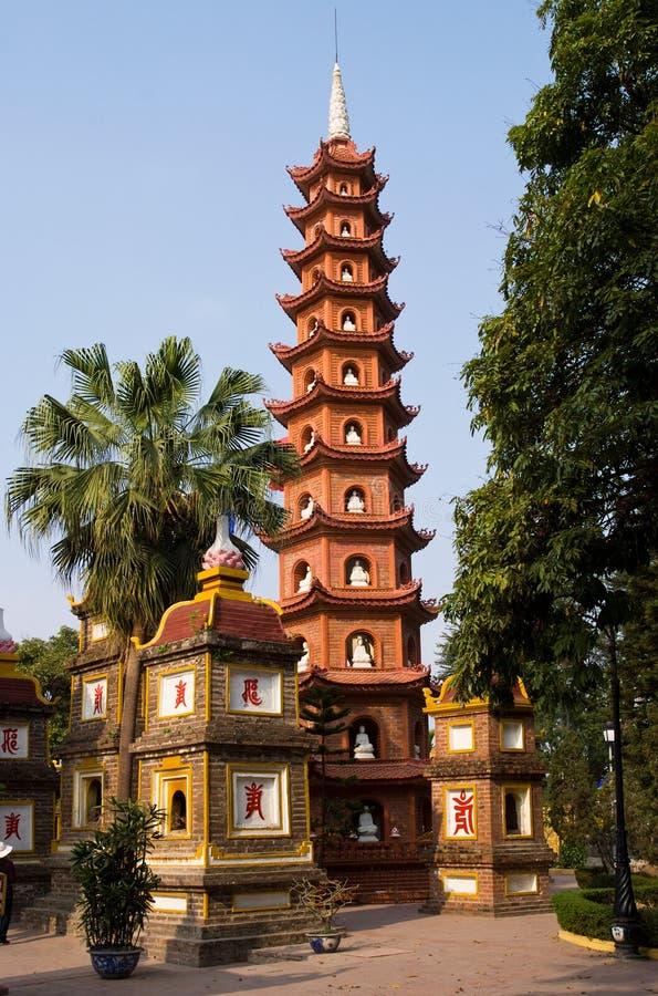 Pagoda di Tran Quoc a Hanoi immagini stock