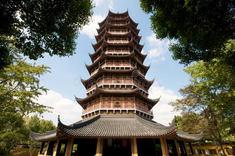 Pagoda di zen a Suzhou fotografie stock libere da diritti