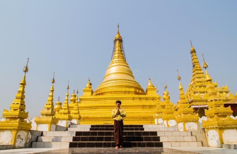 Pagoda dorata del Myanmar immagini stock libere da diritti