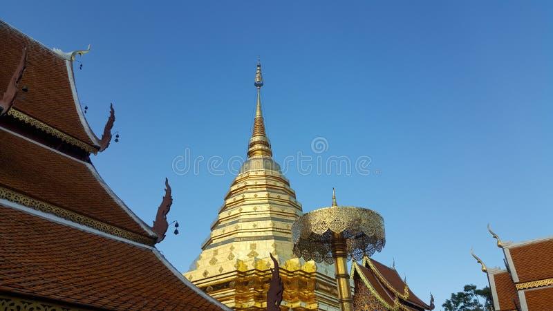 Pagoda dorata di nordico della Tailandia 01 immagini stock