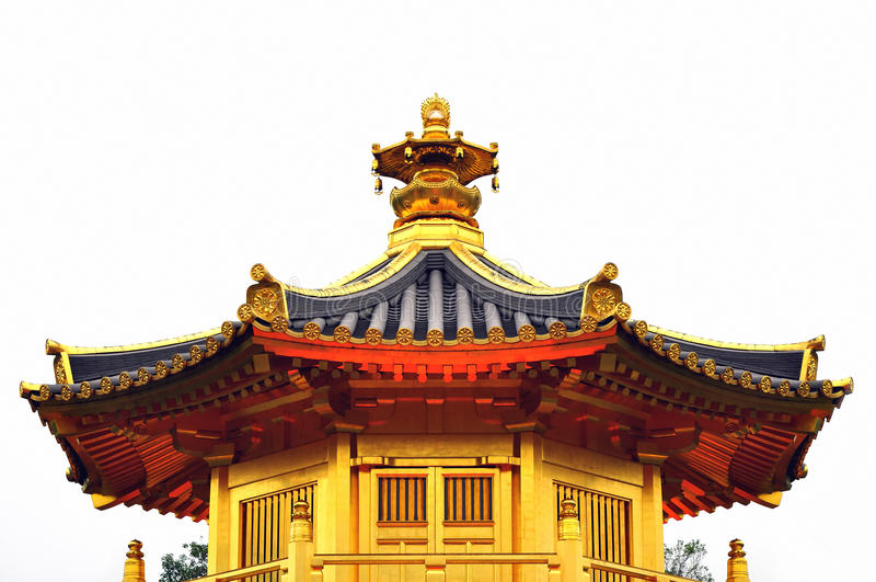 Pagoda dorato fotografia stock libera da diritti