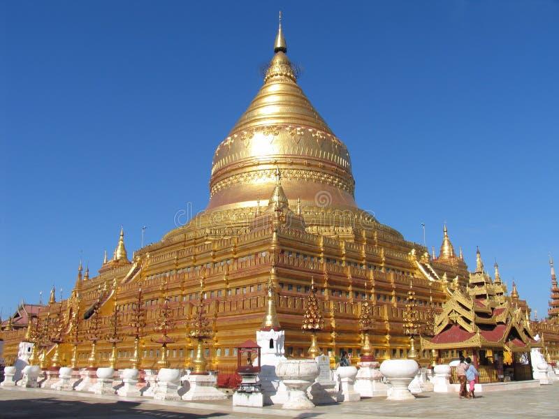 Pagoda dorato fotografie stock