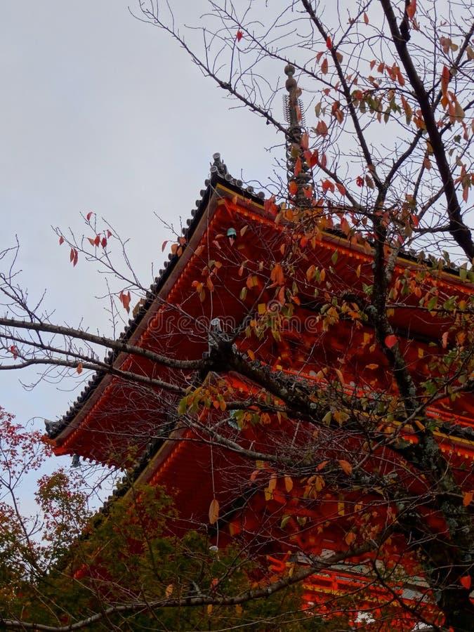 Pagoda du temple de Kiyomizu-dera photo libre de droits