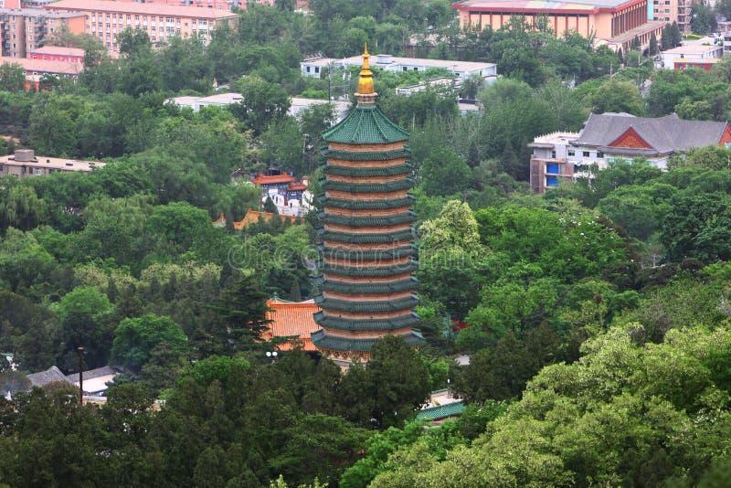 Pagoda em beijing imagens de stock