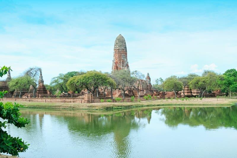 Pagoda en la ciudad antigua, Ayutthaya imagen de archivo libre de regalías