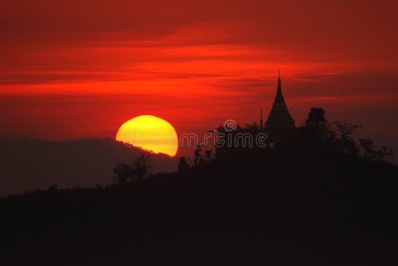 Pagoda en Mrauk U, Myanmar. imágenes de archivo libres de regalías