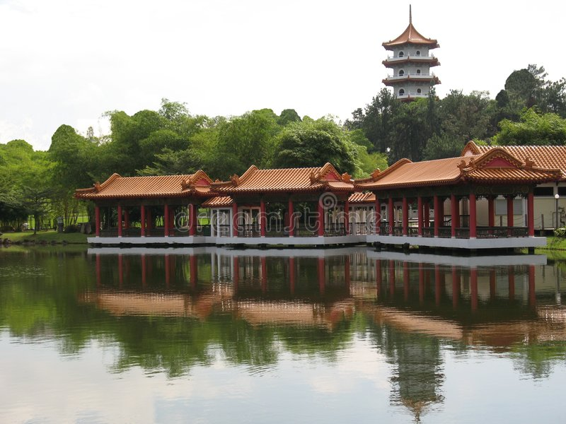 Pagoda et pavillon chinois photographie stock