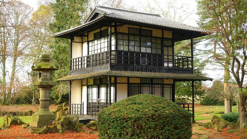Pagoda in garden royalty free stock photo