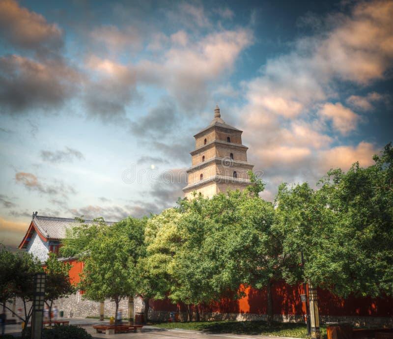 pagoda grande de gansos salvajes en Xi'an imágenes de archivo libres de regalías