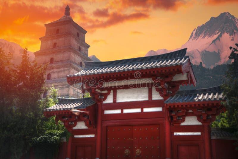 pagoda grande de gansos salvajes en Xi'an fotografía de archivo libre de regalías