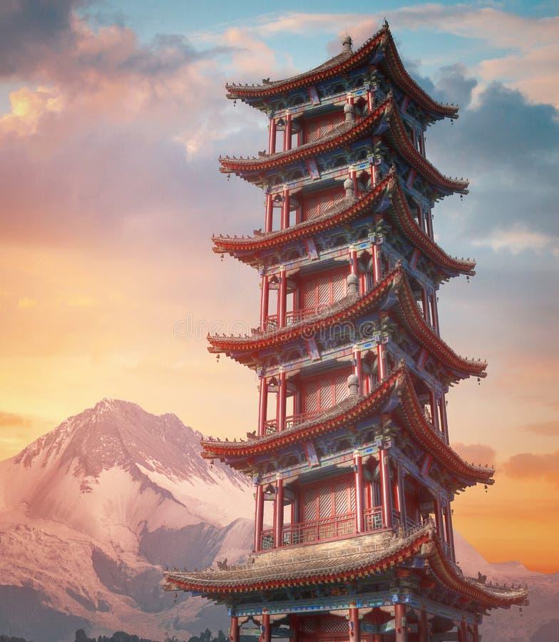 pagoda grande de gansos salvajes en Xi'an fotografía de archivo