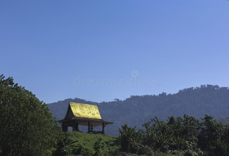 Pagoda on a hill royalty free stock images
