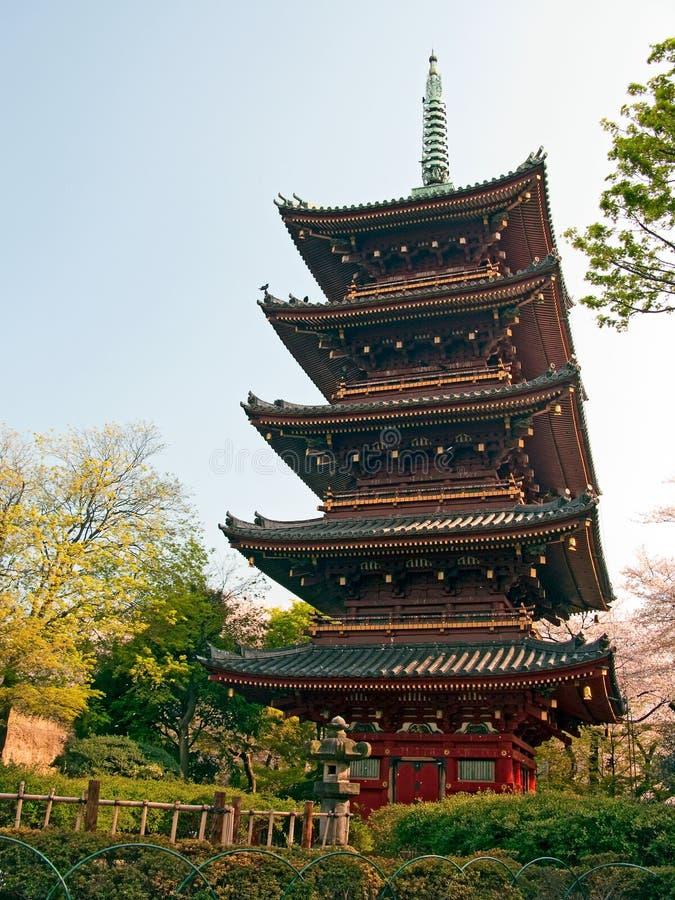 Pagoda japonesa en Tokio fotografía de archivo
