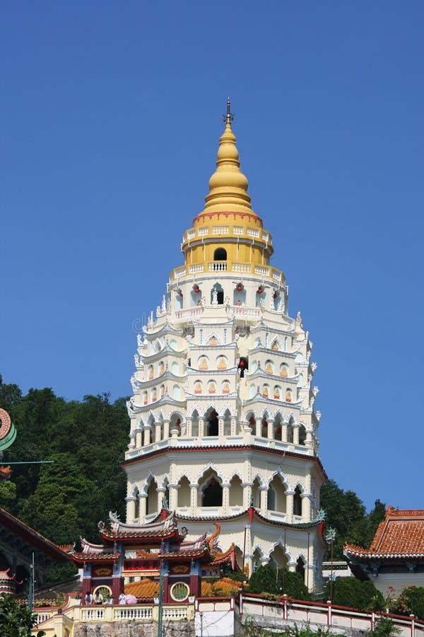 Pagoda at Kek Lok Si, Penang stock photo