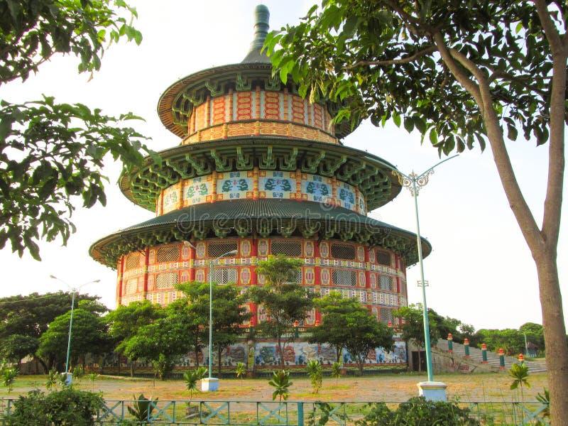 Pagoda Kenjeran Sorabaya image stock