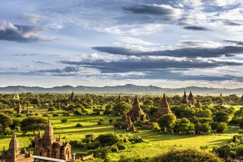 Pagoda krajobraz świątynie Mandalay Bagan, Birma (poganin) obrazy royalty free