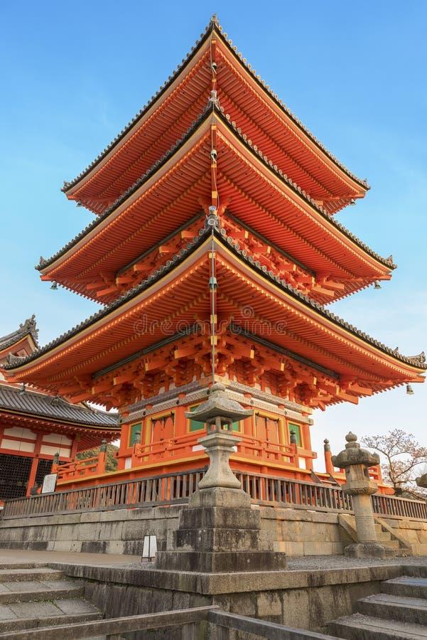 Pagoda a Kyoto Giappone fotografia stock libera da diritti