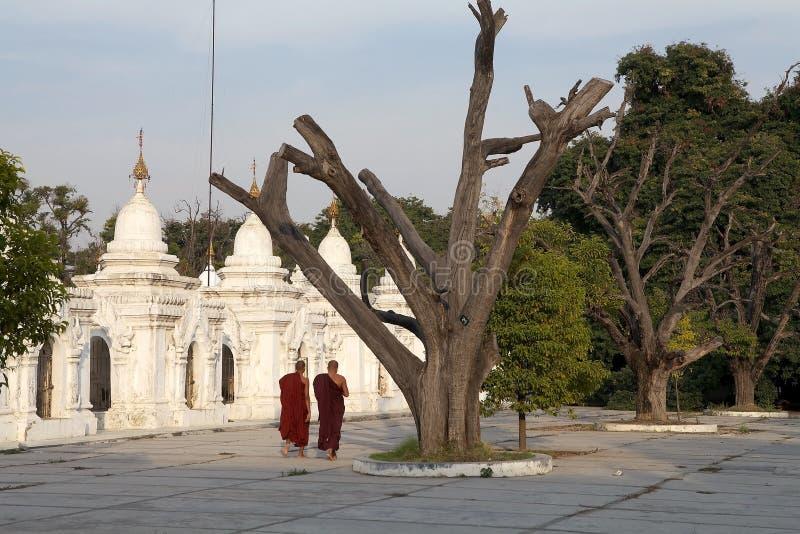 Pagoda Mandalay Myanmar de Kuthodaw fotografía de archivo