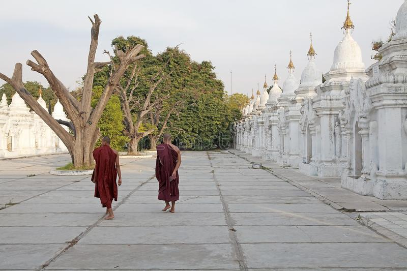 Pagoda Mandalay Myanmar de Kuthodaw fotografía de archivo libre de regalías