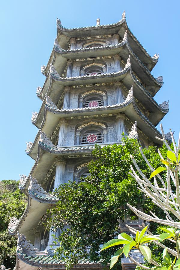 Pagoda on The Marble Mountains royalty free stock image