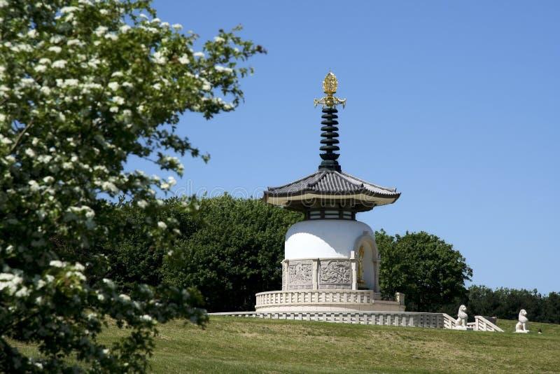 Pagoda milton Keynes da paz fotos de stock