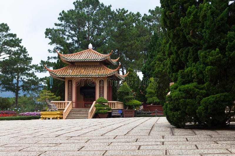 Pagoda in Monastery. Dalat. Vietnam. royalty free stock photo