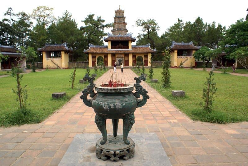 pagoda mu thien стоковое изображение rf