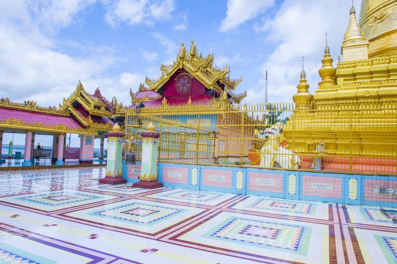Pagoda Myanmar de Sagaing image stock
