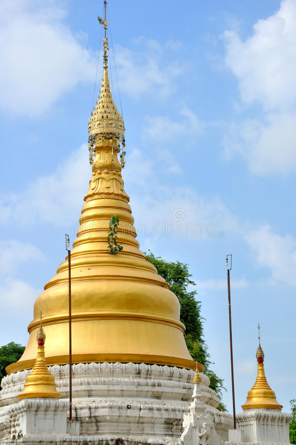 Pagoda near Mahamuni Buddha Temple, Mandalay royalty free stock photos