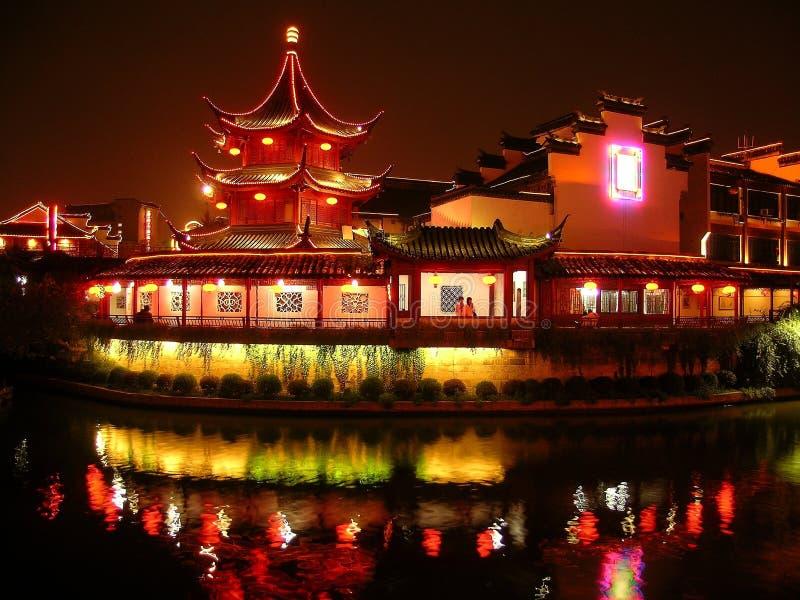 Pagoda at night royalty free stock image