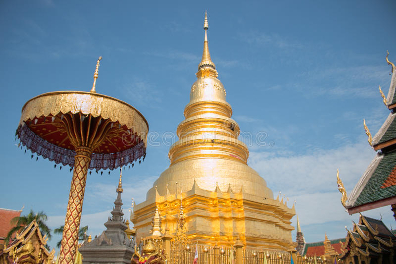 The pagoda in northern of Thailand royalty free stock images