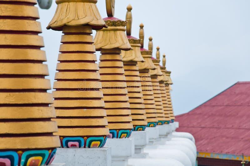 Pagoda på den Phelri Nyingmapa kloster i Kalimpong arkivbilder