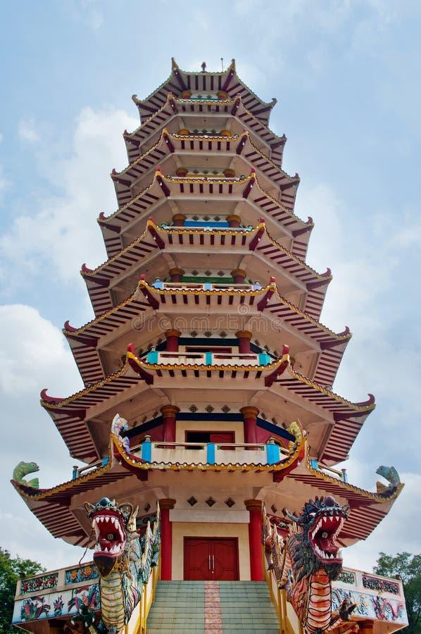 Pagoda a Palembang, Indinesia immagini stock