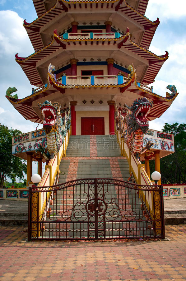 Pagoda in Palembang, Indonesia. Pagoda at Kemaro Island in Palembang, Indonesia royalty free stock photo